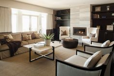 It is quite easy to arrange, decorate and personalize the rectangle living room which also offer metered wall dimensions. Living Room With Fireplace, Living Room Paint, Living Room Interior, Living Room Furniture, Home Furniture, Living Room Decor, Arrange Furniture, Rectangular Living Rooms, Small Room Design