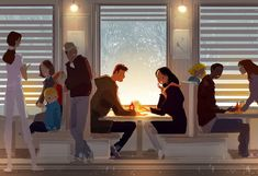 ⌨DINER STORIES by Pascal Campion⌨ #pascalcampion #paintings #artwork