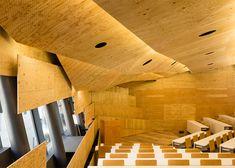 Kengo Kuma created an organic facade out of cedar strips for t...