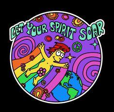 los simpsons Hippie Homer - Let Your Spirit Soar, The Simpsons Simpsons Drawings, Simpsons Tattoo, Simpsons Art, Tumblr Stickers, Cute Stickers, Simpsons Frases, Los Simsons, Gavin Memes, Vintage Cartoon