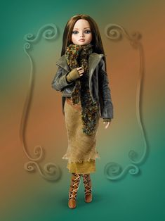 """Feeling Fatigue - Fall 2011 Dressed Doll Sold Out/Retired  """"I'm FEELING FATIGUE but its only high noon   And Prudence and Rufus will be over here soon;   They thought a day out would help my ennui  I'll put on my new smile ~ will it help? Well...we'll see"""""""