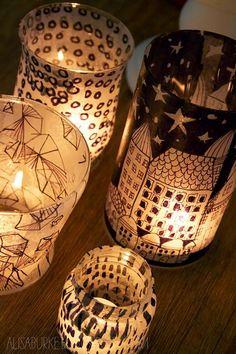 DIY Lanterns : DIY tissue paper lanterns