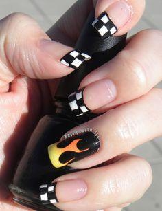 drag racing nail art - Google Search