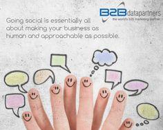 #SocialMedia amplifies the voice. How does going social help a #B2B company?  www.b2bdatapartners.com