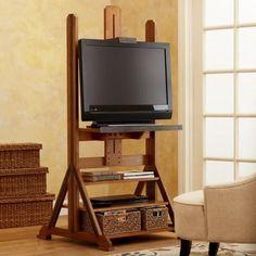 Living Room Tv, Living Room Furniture, Easel Tv Stand, Tv Media Stands, Home Improvement Cast, Tv Stand Designs, Rack Tv, Wooden Tv Stands, Art Easel