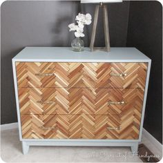 From Deck Tiles to Herringbone Patterned Drawer Fronts