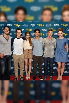 'Teen Wolf' cast    The best-looking cast on TV? Teen Wolf stars Tyler Hoechlin, Dylan O'Brien, Holland Roden, Tyler Posey, Colton Haynes and Crystal Reed all looked fantastic promoting their hit MTV show.