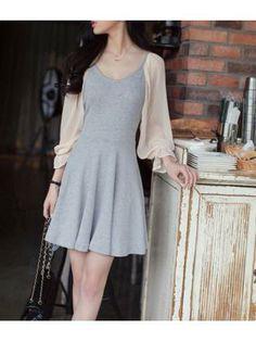 Mod Color Block A Line Dress