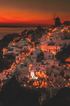 Experience warmth and charm with stunning sea views ~ Santorini, Greece, particularly beautiful by night