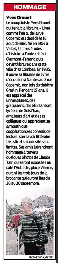 Yves Drouet-Livres comme l'air- Nantes