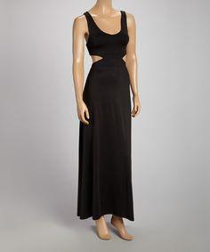 Black Cutout Maxi Dress by La Class #zulily #zulilyfinds