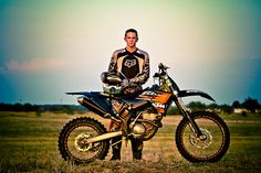 Pose with dirt bike