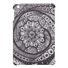 my design on your case for your mini i pad    spiral mandala cover for the iPad mini