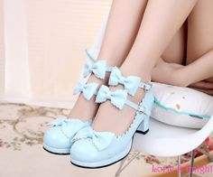 Find More Women's Pumps Information about Japanse Harajuku Sweet Princess Girls Double Bowtie Straps Chunky High Heel Lolita Shoes,High Quality shoe heel insoles,China shoes small heels Suppliers, Cheap heel high shoes from Lorie & Knight on Aliexpress.com