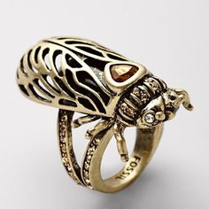 Fossil - Cicada Ring; WANT.