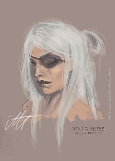 Adelina Amouteru sketch from The young Elites