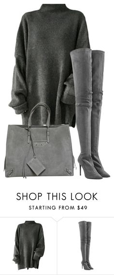 """""""Untitled #105"""" by pariszouzounis ❤ liked on Polyvore featuring Tamara Mellon and Balenciaga"""