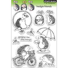 """Penny Black Clear Stamps 5""""X7.5"""" Sheet Hedgie Friends PB30101"""