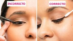 When applying liner, try not to pull the skin on the side of your face. If things get a little messy, clean up your line with a makeup remover–soaked cotton swab. 18 Useful Tips For People Who Suck At Eyeliner Beauty Secrets, Diy Beauty, Beauty Makeup, Beauty Hacks, Beauty Tips, Beauty Care, Homemade Beauty, Beauty Trends, Beauty Skin
