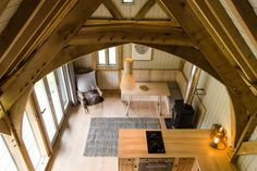 Check out the cathedral ceiling inside this tiny house | SF Globe