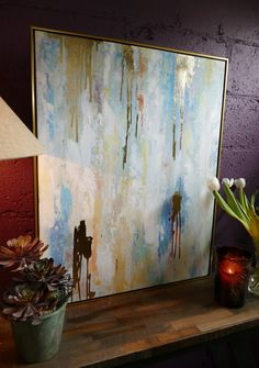 Hand Painted, Wall Art, Staging, Color, Stager, Large Abstract Wall Art, Hanging, Frame, Own Home