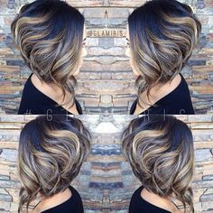 Sick of constantly having to untangle a knot in you long hair? An inverted bob is the answer. Here's 61 best inverted bob hairstyles for Inverted Bob Hairstyles, Bob Hairstyles For Thick, Haircut For Thick Hair, Cool Hairstyles, Hairstyles 2016, Beautiful Hairstyles, Hairstyle Ideas, Hair Ideas, Short Hair Cuts