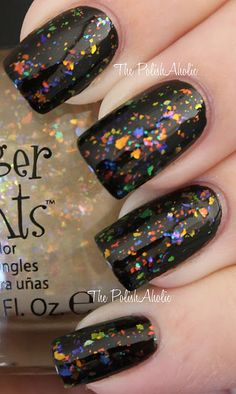 Sally Beauty Fingerpaints flakie polish in Twisted. What a great layering polish!