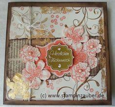 Happy Birthday Card  Vintage Look with Stampin Up! Handmade by Silvi Unabh. Stampin' Up! Demonstratorin aus Jena Thüringen www.stampinzauber.de