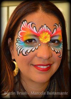 Marcela Bustamante || colorful mask