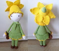 Daffodil Nancy flower doll made by Sandrine M - crochet pattern by Zabbez