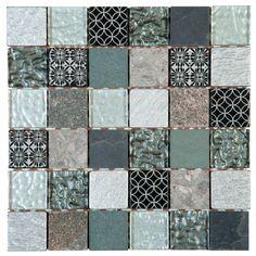 La mosaïque sur trame de la marque Bâti Orient est constituée de tesselles en quartzite et en verre. Elle s'adapte à toutes les pièces et en particulier à la salle de bains.
