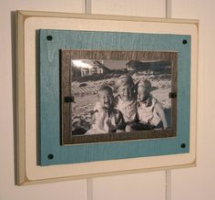 Large single distressed wood Picture Frame by BeachFrames on Etsy, $29.95
