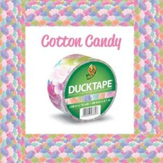 Duck Brand 282022 Cotton Candy Printed Duct Tape, 1.88 Inch by 10 Yards, Single Roll