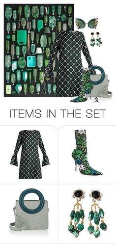 """""""Black & Dark Green"""" by quicherz ❤ liked on Polyvore featuring art"""