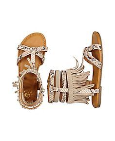 Fringe Snake Gladiator Sandals