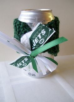 New York JETS Football Fans Handmade Can Cozy FREE by ZZsTeamTime