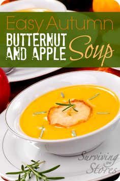Autumn Butternut Squash and Apple Soup Recipe that kids will LOVE!