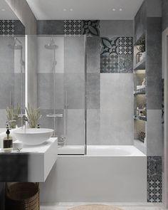 Image may contain: indoor Bathroom Kids, Bathroom Renos, Modern Bathroom Design, Bathroom Interior Design, Bathroom Renovations, Small Bathroom, Mini Bad, Hotel Room Design, Home Deco