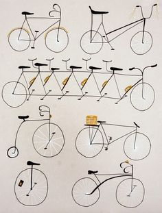 Cycling Print ~ Erin Wallace Print + Design