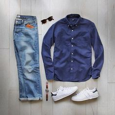 WEBSTA @ votrends - Feeling a little blue Outfit by: @thepacman82 Tag a friend who would love this look!!!
