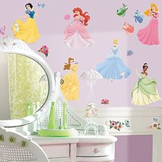 Roommates Rmk1470scs Disney Princess Peel & Stick Wall Decals With Gems, 2015 Amazon Top Rated Room Décor #HomeImprovement