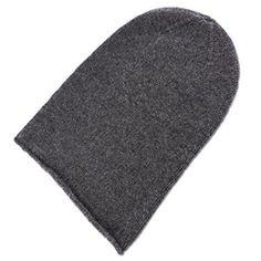 Mens 100/% Cashmere Beanie Hat hand made in Scotland by Love Cas... Dark Gray