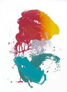 Organic Painterly Silk Screen