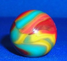 "Peltier - National Line Rainbow ""Superman"" marble. Pretty colors."