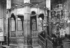 Interior of an old synagogue