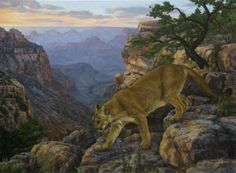 Brenda Howell, Protector of the North, oil, 18 x 36.