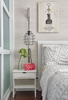 Filled with DIY details and customized pieces, this quaint one-bedroom condo brings labor of love to a whole new level Condo Interior Design, French Interior Design, Apartment Design, Interior Ideas, Small Condo Living, Condominium Interior, Studio Condo, One Bedroom, Bedroom Ideas