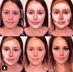 Beauty Trends: Face Contouring - Make up hacks Makeup Tips, Beauty Makeup, Eye Makeup, Hair Makeup, Hair Beauty, Makeup Videos, Makeup Tutorials, Big Nose Makeup, Makeup Spray