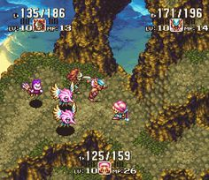If Seiken Densetsu 3 (SNES) was released in NA, it would've been called Secret of Mana 2! That's what this screen shot is from. For some reason it was never officially released. It was, however, fully translated to English by fans for fans. It's a really awesome, highly entertaining game with a great story. Particularly, if you're a fan of Secret of Mana you will love this sequel. Click to play :)
