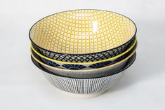 The Bowls Of This Yellow Bowl Set - Large Come In 4 Different Designs For The Less Traditional. Brighten Up Your Dinner Table. Yellow Bowls, Large Bowl, Dinner Table, Kitchen Tools, Bowl Set, Dinnerware, Porcelain, Gifts, Dinning Table